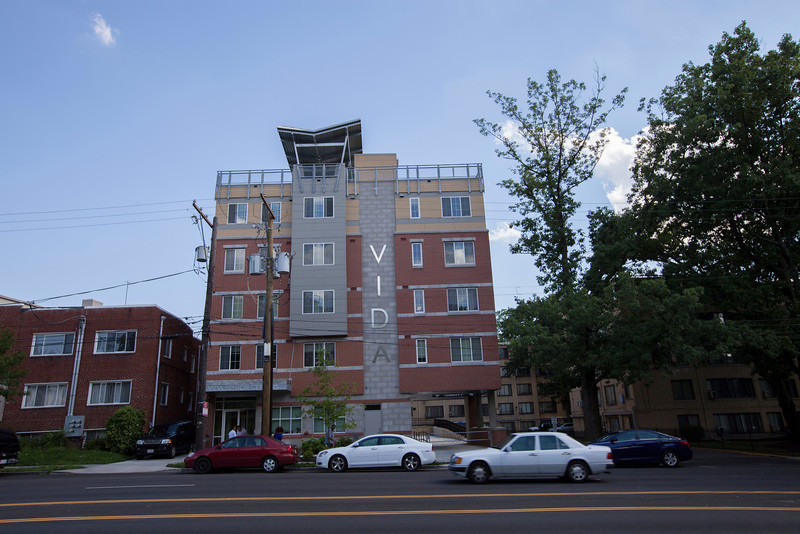 The Society's Urban Photography Series includes guided photo tours of neighborhoods in each of the District's eight wards. The tour of  Brightwood (Ward 4) was led by Pat Tyson. <br /> <br /> PICTURED: Vida Senior Residences, 1330 Missouri Avenue NW.<br /> <br /> Shot 6/29/2013. Credit: Anne McDonough, © Historical Society of Washington, D.C.