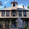 The Society's Urban Photography Series includes guided photo tours of neighborhoods in each of the District's eight wards. The tour of  Brightwood (Ward 4) was led by Pat Tyson. <br /> <br /> PICTURED:  Participants and tour guide along the route. George M. Lightfoot Family Residence, 1329 Missouri Avenue NW. <br /> <br /> Shot 6/29/2013. Credit: Anne McDonough, © Historical Society of Washington, D.C.