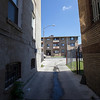 The Society's Urban Photography Series includes guided photo tours of neighborhoods in each of the District's eight wards. The tour of Park View (Ward 1) was led by Kent Boese. <br /> <br /> PICTURED: Low-income housing between Keefer Place and Warder St. NW.<br /> <br /> Shot 6/22/2013. Credit: Anne McDonough, © Historical Society of Washington, D.C.