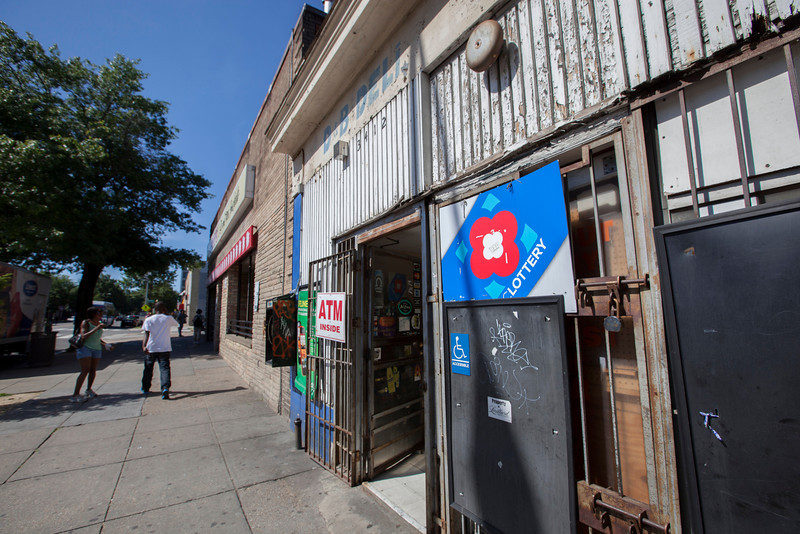 The Society's Urban Photography Series includes guided photo tours of neighborhoods in each of the District's eight wards. The tour of Park View (Ward 1) was led by Kent Boese. <br /> <br /> PICTURED: D & B Deli, 3412 Georgia Avenue NW.<br /> <br /> Shot 6/22/2013. Credit: Anne McDonough, © Historical Society of Washington, D.C.