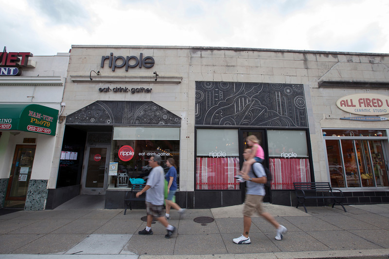 The Society's Urban Photography Series includes guided photo tours of neighborhoods in each of the District's eight wards. The tour of Connecticut Avenue/Cleveland Park (Ward 3) was led by Carolyn Crouch.<br /> <br /> PICTURED: Ripple, 3417 Connecticut Avenue NW.<br /> <br /> Shot 7/27/2013. Credit: Anne McDonough, © Historical Society of Washington, D.C.