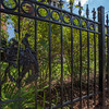 The Society's Urban Photography Series includes guided photo tours of neighborhoods in each of the District's eight wards. The tour of  Brightwood (Ward 4) was led by Pat Tyson. <br /> <br /> PICTURED: 1320 Madison Street NW, with ornate gates featuring unicorns.<br /> <br /> Shot 6/29/2013. Credit: Anne McDonough, © Historical Society of Washington, D.C.