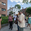 The Society's Urban Photography Series includes guided photo tours of neighborhoods in each of the District's eight wards. The tour of  Brightwood (Ward 4) was led by Pat Tyson. <br /> <br /> PICTURED:  Participants and tour guide along the route. <br /> <br /> Shot 6/29/2013. Credit: Anne McDonough, © Historical Society of Washington, D.C.