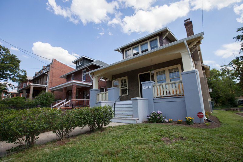 The Society's Urban Photography Series includes guided photo tours of neighborhoods in each of the District's eight wards. The tour of  Brightwood (Ward 4) was led by Pat Tyson. <br /> <br /> PICTURED: 1322 Madison Street NW.<br /> <br /> Shot 6/29/2013. Credit: Anne McDonough, © Historical Society of Washington, D.C.