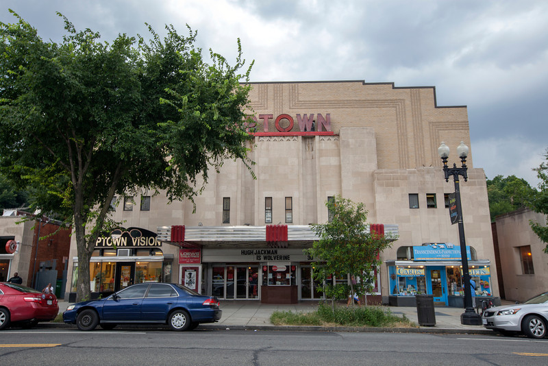 The Society's Urban Photography Series includes guided photo tours of neighborhoods in each of the District's eight wards. The tour of Connecticut Avenue/Cleveland Park (Ward 3) was led by Carolyn Crouch.<br /> <br /> PICTURED: View of the Uptown Theatre on the west side of Connecticut Avenue NW.<br /> <br /> Shot 7/27/2013. Credit: Anne McDonough, © Historical Society of Washington, D.C.