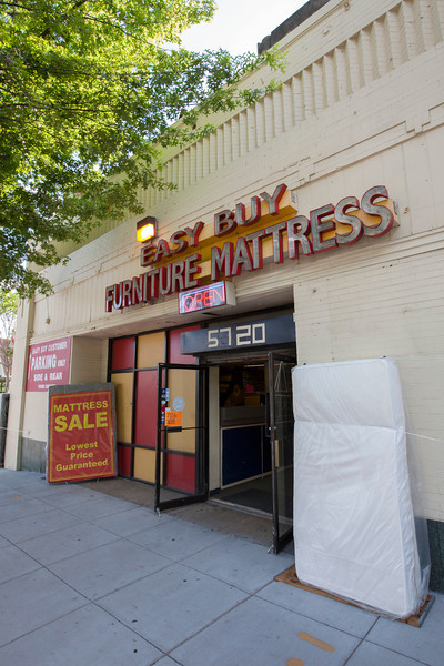 The Society's Urban Photography Series includes guided photo tours of neighborhoods in each of the District's eight wards. The tour of  Brightwood (Ward 4) was led by Pat Tyson. <br /> <br /> PICTURED:  Easy Buy Furniture Mattress, 5720 Georgia Avenue NW.<br /> <br /> Shot 6/29/2013. Credit: Anne McDonough, © Historical Society of Washington, D.C.