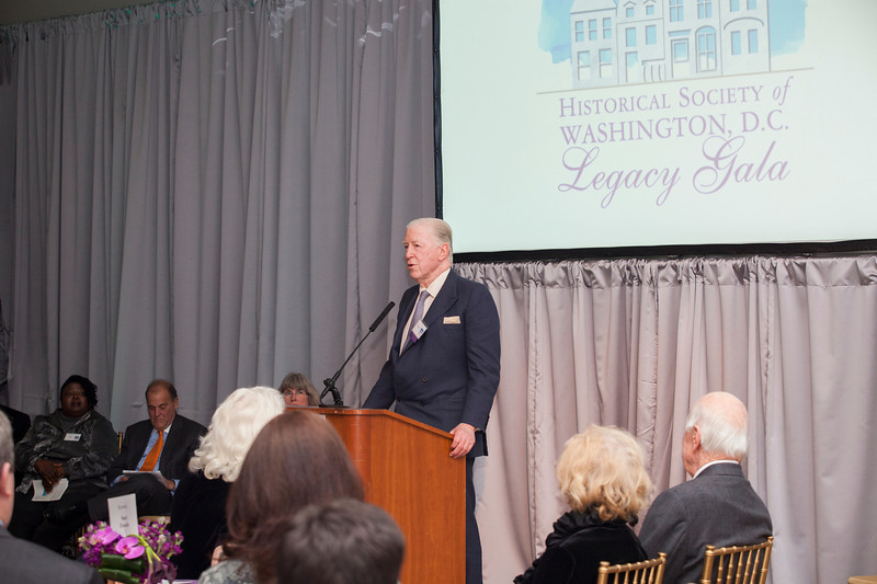 "The Historical Society of Washington, D.C.'s 2013 Legacy Gala honored the Quander and Saul families. The event, held at the Society's home in the Carnegie Library building at Mt. Vernon Square, also marked the reopening of the ""Window to Washington"" exhibit (including more than 25 newly curated artworks). New acquisitions to the collections were displayed in the Kiplinger Research Library, and guests were introduced to the Urban Photography Series,  a grant-funded project which was launched by the Society in spring 2013.Speakers: HSW chair Julie Koczela; emcee Mark Plotkin; Deputy Mayor for Public Safety and Justice Paul Quander;  Dr. Ida Jones of the Moorland-Spingarn Research Center at Howard University; honoree Rohulamin Quander; 2012 honoree Austin H. Kiplinger; and honoree B.F. Saul II.<br /> Shot 11/13/2013.  Shot 11/13/2013"
