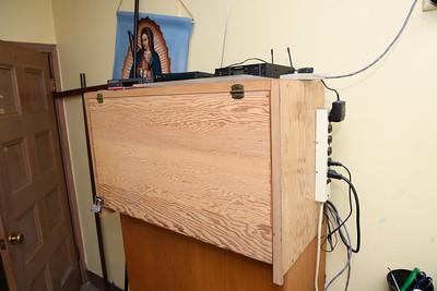Backroom sound cabinet