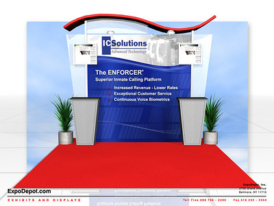 IC Solutions, Alumalite 10ft. Wave Rendering http://expodepot.com/alumalite-displays-c-360.html