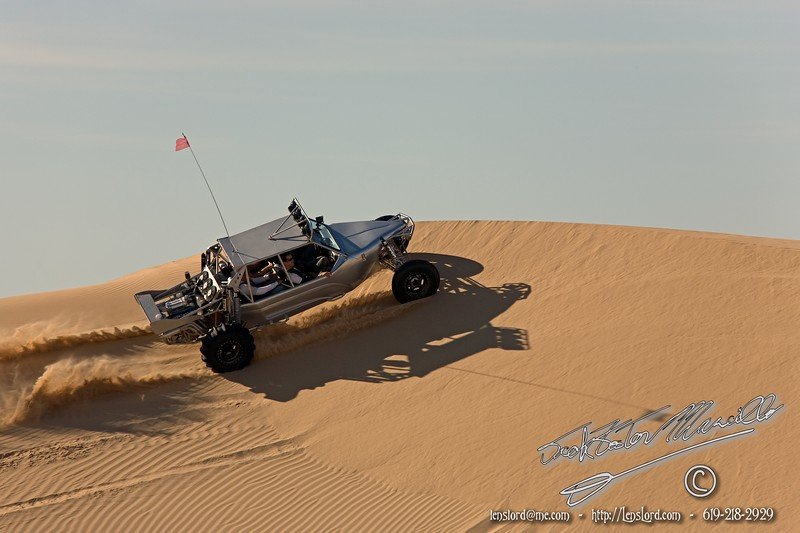 The ride to Palo Verde, Inkopah tower. Glamis and the Extreme Skatboarders in their DUNE Racer, Cotton, and a sunset.