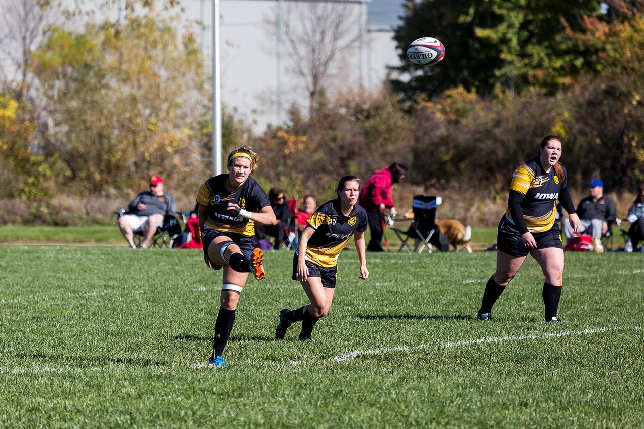 University of Iowa Women's Rugby Team vs. Iowa State Women's Rugby Team. Iowa City, IA. 22 October, 2016. Photo copyright David C. Harmantas. All rights reserved.