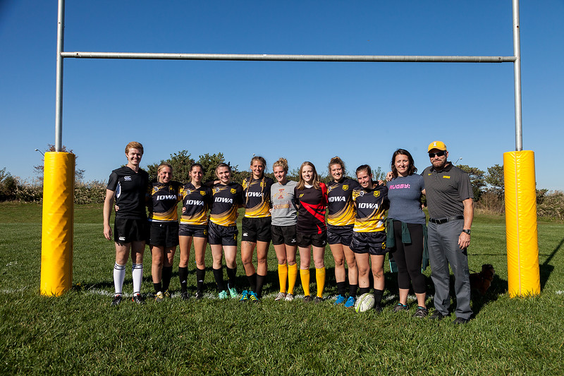University of Iowa Women's Rugby Team. Iowa City, IA. 22 October, 2016. Photo copyright David C. Harmantas. All rights reserved.