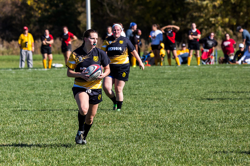 University of Iowa Women's Rugby Team vs. Iowa State Women's Rugby Team. Iowa City, IA. 22 October, 2016. Photo copyright David C. Harmantas. All rights reserved.