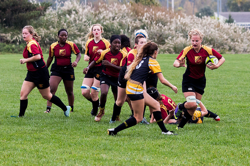 University of Iowa Women's Rugby Team vs. University of Minnesota Women's Rugby Team. Iowa City, IA. 15 October, 2016.
