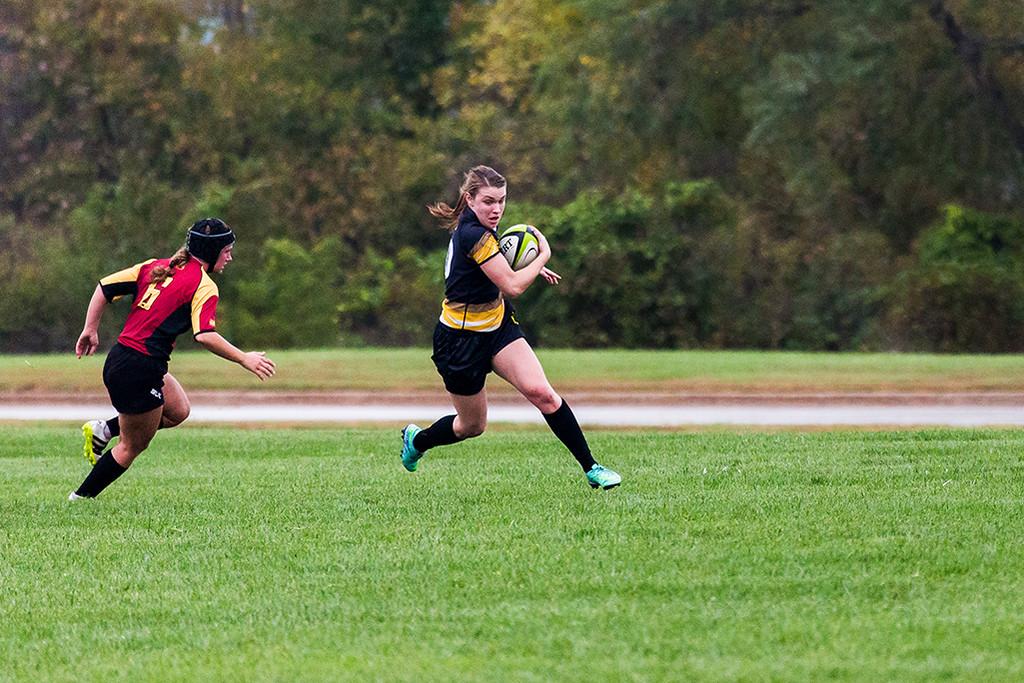 University of Iowa Women's Rugby Team vs. University of Minnesota Women's Rugby Team. Iowa City, IA. 15 October, 2016.