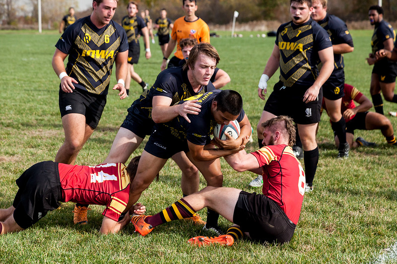 University of Iowa Men's Rugby Team vs. University of Minnesota Men's Rugby Team. Iowa City, IA. 30 October, 2016. All photos copyright David C Harmantas, All Rights Reserved.