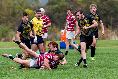 University of Iowa Men's Rugby Team vs. University of Indiana Men's Rugby Team. Iowa City, IA. 15 October, 2016.