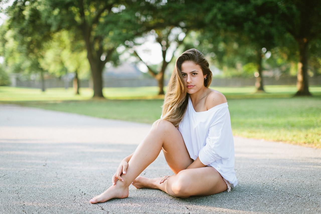 Isabella Machado Shorts & White blouse
