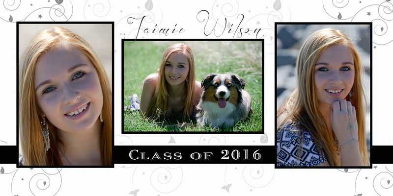 This graduation announcement is designed for a photo card for high school seniors.