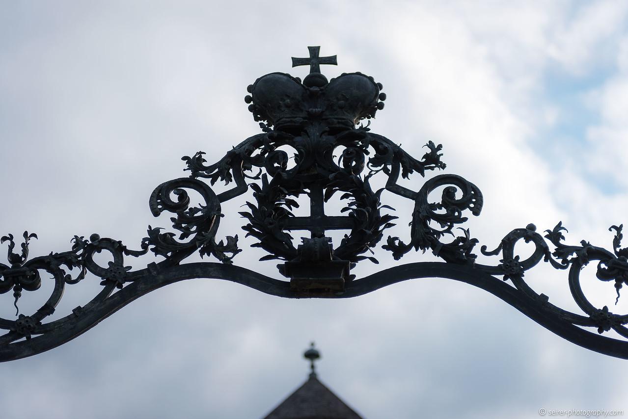 Eingang zum Schloß Niederweiden