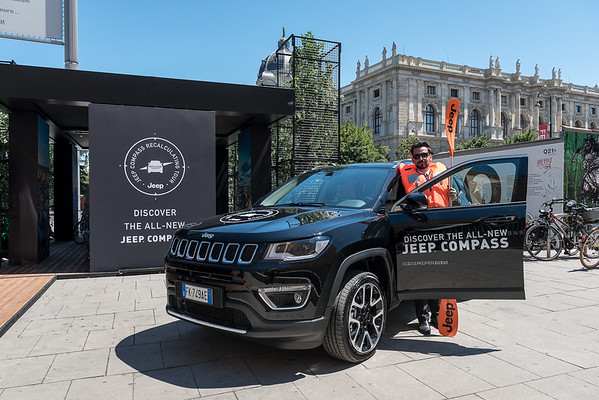 "Jeep Austria presents the new ""Compass"" model at the Museumsquartier"