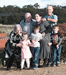 Family Portraits of Jeff and Robyn with their grandkids and family