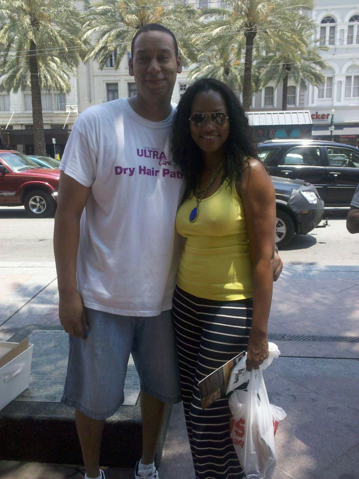 Cedric Callins, Johnson Products, poses with celeb Garcelle Beauvais