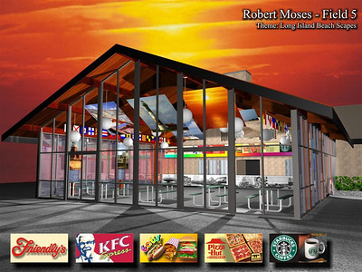 Jones Beach, Rendering of Conceptual Concession Stand