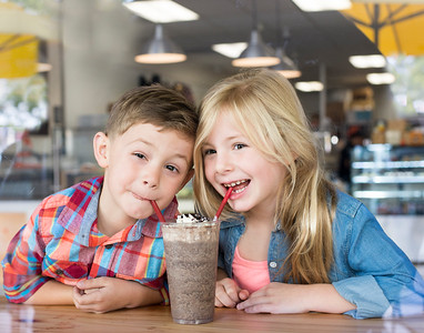 Sharing Frozen Hot Chocolate