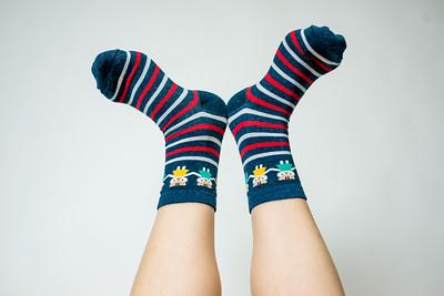 2016 Sept KALAWALK Women's 2-Pack Animal Stripes Style Colorful Cotton Crew Socks-55-18