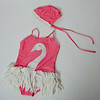 2016 Sept Qyqkfly Girl Swan Adjustable Strap Cross Back One Piece Swimsuit-47-14