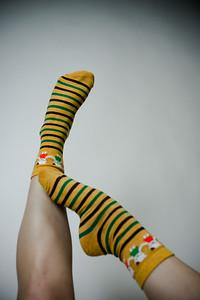 2016 Sept KALAWALK Women's 2-Pack Animal Stripes Style Colorful Cotton Crew Socks-78-27