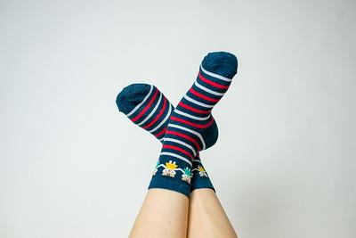 2016 Sept KALAWALK Women's 2-Pack Animal Stripes Style Colorful Cotton Crew Socks-48-15