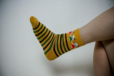 2016 Sept KALAWALK Women's 2-Pack Animal Stripes Style Colorful Cotton Crew Socks-81-29
