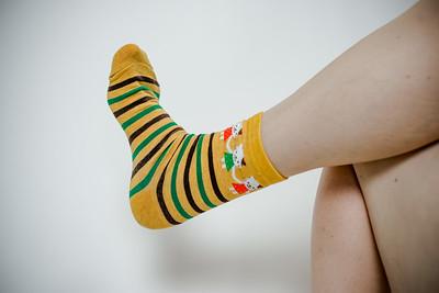 2016 Sept KALAWALK Women's 2-Pack Animal Stripes Style Colorful Cotton Crew Socks-83-30