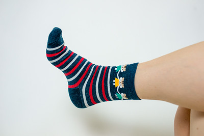 2016 Sept KALAWALK Women's 2-Pack Animal Stripes Style Colorful Cotton Crew Socks-65-22