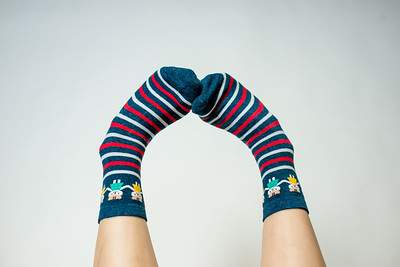 2016 Sept KALAWALK Women's 2-Pack Animal Stripes Style Colorful Cotton Crew Socks-54-17