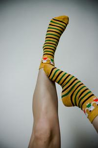 2016 Sept KALAWALK Women's 2-Pack Animal Stripes Style Colorful Cotton Crew Socks-75-26