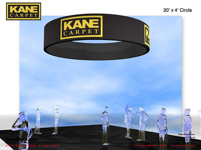 Kane Carpet, 20'x5' Circle Hanging Structure Rendering http://expodepot.com/hanging-fabric-structures-c-187.html