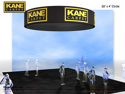 Kane Carpet, 22'x5' Circle Hanging Structure Rendering http://expodepot.com/hanging-fabric-structures-c-187.html