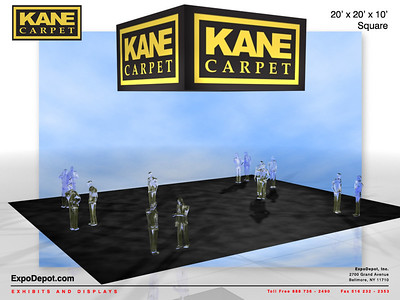 Kane Carpet, 20'x 5' Square Hanging Structure Rendering http://expodepot.com/hanging-fabric-structures-c-187.html