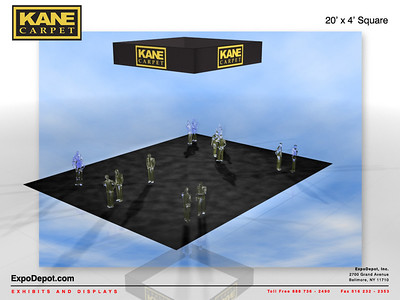Kane Carpet, 20'x 4' Square Hanging Structure Rendering http://expodepot.com/hanging-fabric-structures-c-187.html