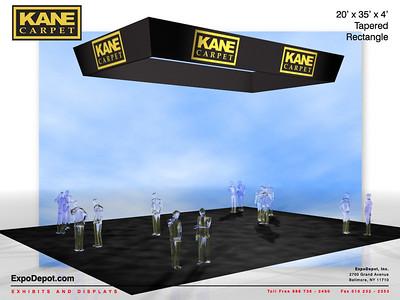 Kane Carpet, 20'x35'x5' Rectangular Hanging Structuce Rendering http://expodepot.com/hanging-fabric-structures-c-187.html