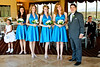 The bridesmaids with the groom