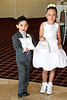 Flower girl and ring bearer ready to walk down the aisle