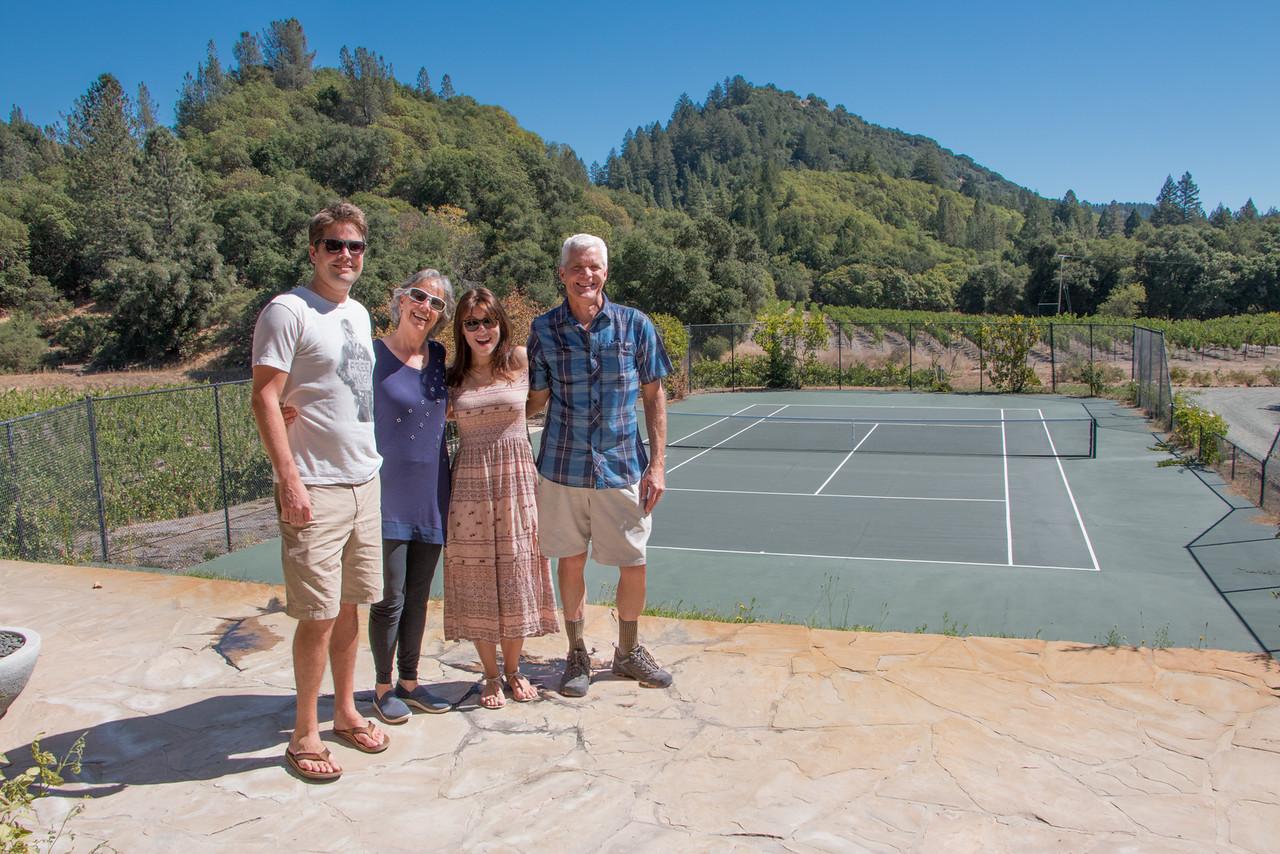 Tyler, Brenda, Julia, Kirk; Calistoga