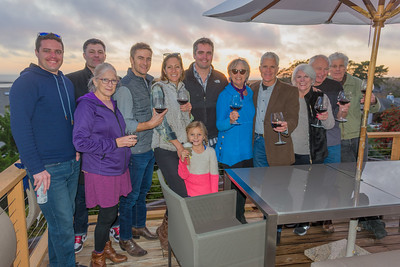 Family + Lorrie & Doug: sunset wine toast in El Granada