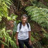 Brenda on Mt Pauanui descent 5614