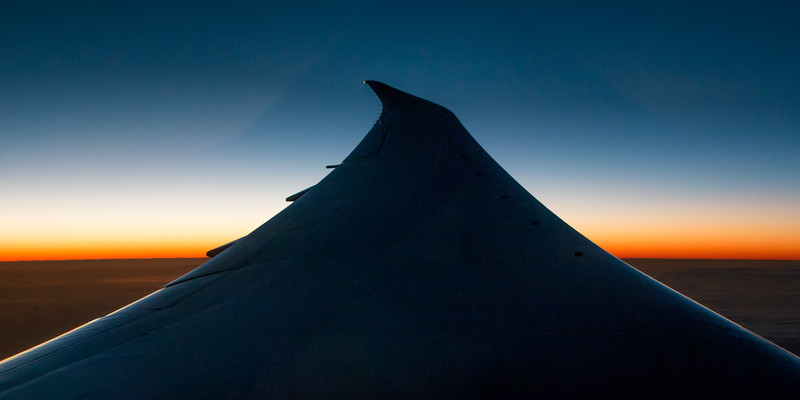 Inflight sunrise over the South Pacific 5491p