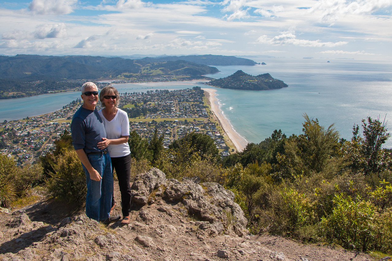Honeymooners above Pauanui 5596